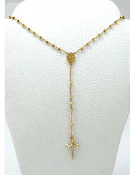 ROSARY IN 18K GOLD IN TWO...