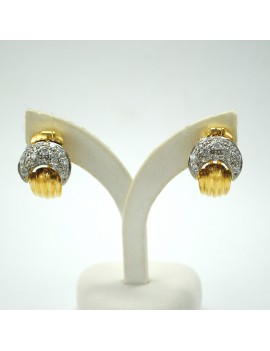 EARRINGS IN 18K GOLD AND...
