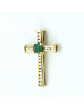 CROSS IN GOLD 18K WITH...