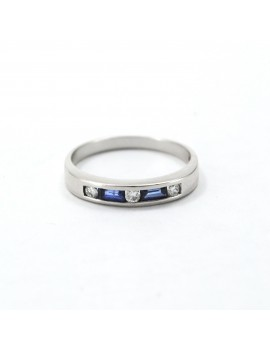 GOLD RING 18K WHITE WITH 3...