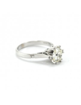 SOLITAIRE RING IN WHITE 18k...
