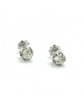 EARRINGS IN 18K WHITE GOLD...