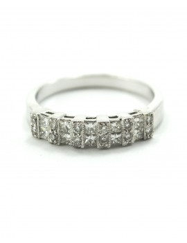 18KTS WHITE GOLD RING AND...