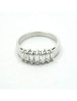 18K WHITE GOLD AND BAGUETTE...