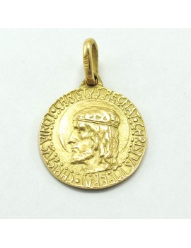 MEDAL Gold 18k Old Christ...