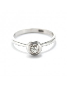 GOLD RING 18K WHITE AND...