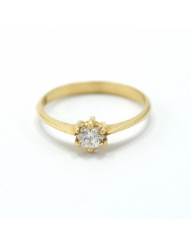 SOLITAIRE RING IN GOLD 18K.