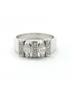 WHITE GOLD RING WITH...