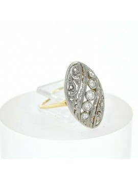 RING ANTIQUE ART DECO 18K...