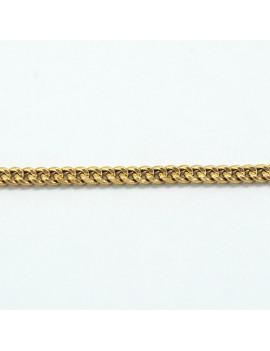 18K GOLD BRACELET GRUMET...