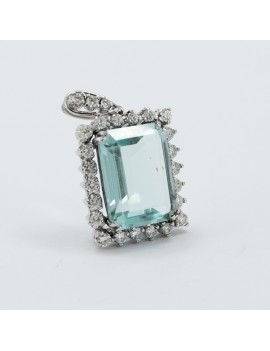 PENDANT AQUAMARINE DIAMONDS...