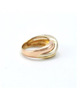 18k gold ring three colors