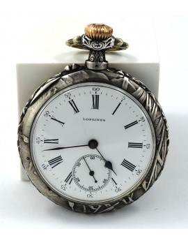 LONGINES SILVER CASE SIGNED...