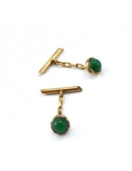 18K GOLD OLD CUFFLINKS ,...