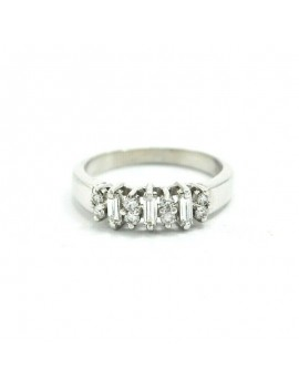 18K WHITE GOLD RING AND...