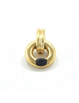 18K GOLD AND ZAFIRO PENDANT