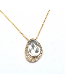 CHAIN AND GOLD PENDANT 18k...