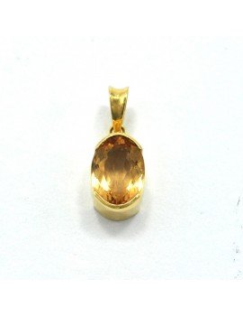 18K GOLD PENDANT WITH TOPACIO