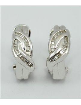 18K WHITE GOLD EARRINGS AND MODERN-CUT DIAMONDS