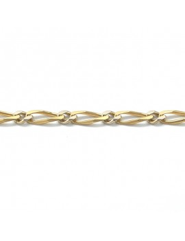 18K GOLD BRACELET IN 2 TONES