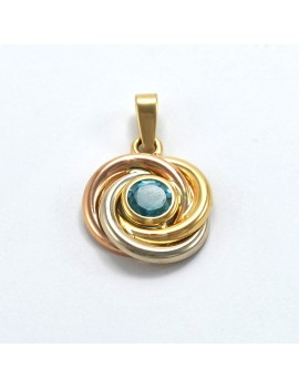 18K GOLD PENDANT IN 3 TONES...