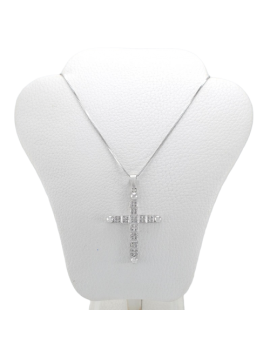 CROSS IN WHITE GOLD 18K AND...