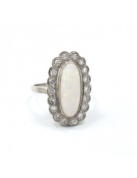 18K WHITE GOLD RING,...
