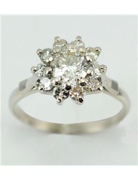 18K WHITE GOLD AND OLD-CUT DIAMONDS ,