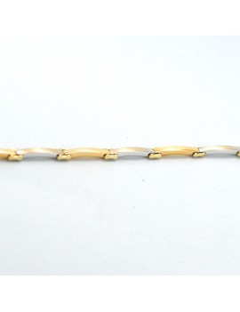 BRACELET IN 2 TONES 18K GOLD