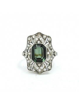 RING ANTIQUE PLATINUM, 18K...