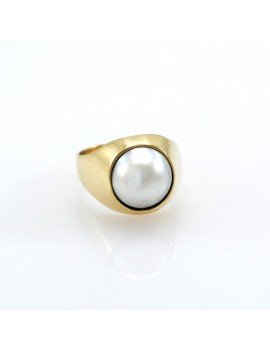 RING IN 18K GOLD AND MOTHER...