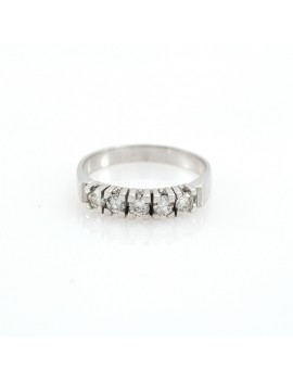 RING 18K GOLD WHITE AND 5...