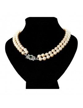 NECKLACE PEARLS 2 TURNS,...