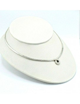 COLLAR ORO BLANCO 18K,...