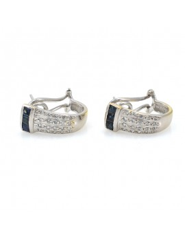 EARRINGS 18K WHITE GOLD...