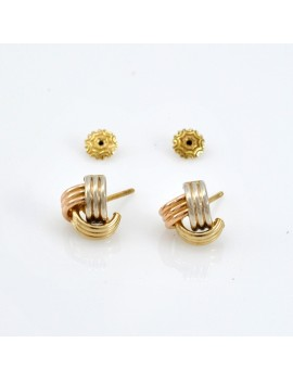 EARRINGS IN 18K GOLD OF 3...