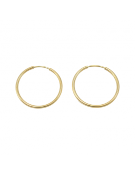 18K GOLD EARRINGS. 22 MM