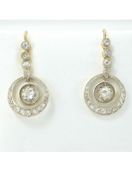 PAIR OF EARRINGS 18K GOLD...