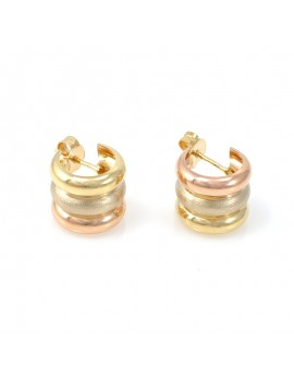 18K GOLD EARRINGS 3 COLORS....