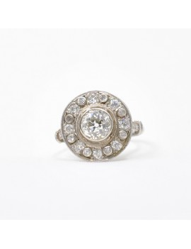 PLATINUM WITH DIAMONDS RING
