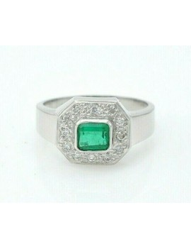 RING EMERALD AND DIAMONDS...