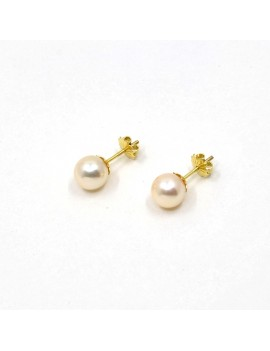 7.5 MM EARRINGS IN 18K GOLD...