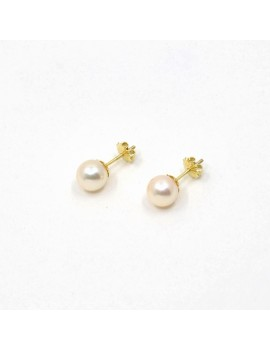 7 MM EARRINGS IN 18K GOLD...