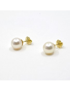 9.5 MM EARRINGS 18K GOLD...