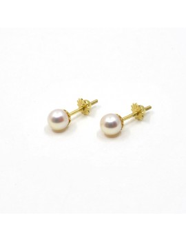 5.5 MM 18K GOLD EARRINGS...