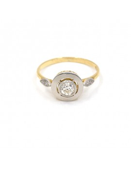 ANTIQUE STYLE RING IN 18K...