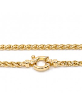 18K GOLD CHAIN, WITH NAVY RING