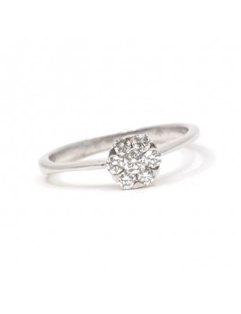 SOLITAIRE RING  IN WHITE...