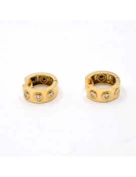 EARRINGS IN 18K YELLOW...