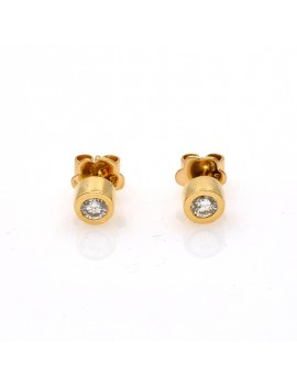 EARRINGS 18K GOLD AND DIAMOND